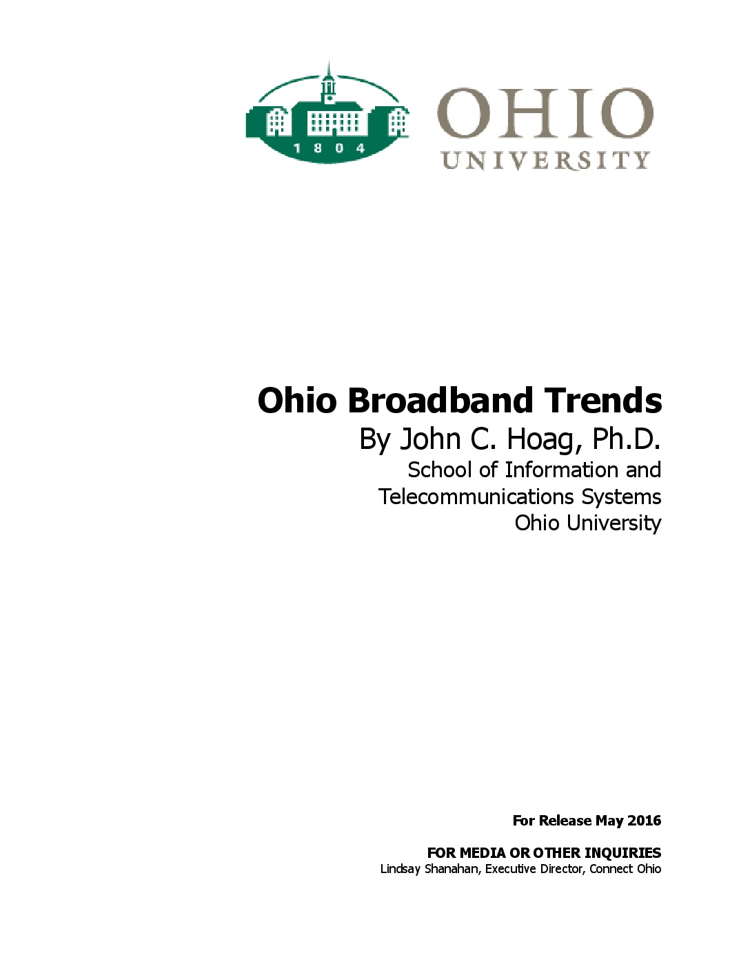 Ohio University: Ohio Broadband Trends