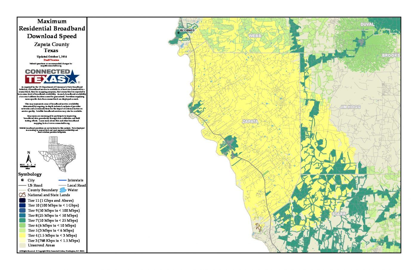 Map Of Zapata Texas.Tx Downloadspeed Zapata Connected Texas