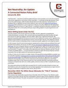 thumbnail of Net Neutrality: An Update – A Connected Nation Policy Brief