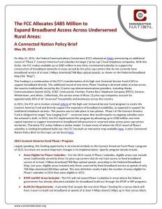thumbnail of The FCC Allocates $485 Million to Expand Broadband Access Across Underserved Rural Areas: A Connected Nation Policy Brief