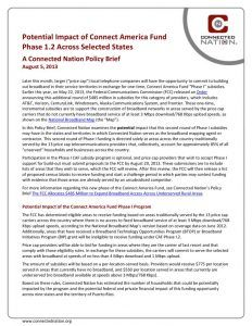 thumbnail of Potential Impact of Connect America Fund Phase 1.2 Across Selected States: A Connected Nation Policy Brief