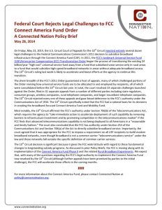 thumbnail of Federal Court Rejects Legal Challenges to FCC Connect America Fund Order: A Connected Nation Policy Brief
