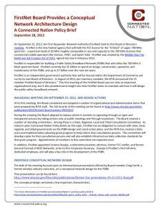 thumbnail of FirstNet Board Provides a Conceptual Network Architecture Design: A Connected Nation Policy Brief