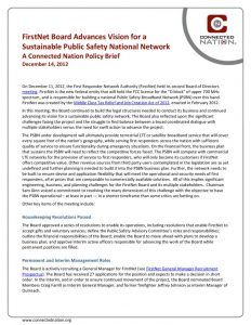 thumbnail of FirstNet Board Advances Vision for a Sustainable Public Safety National Network: A Connected Nation Policy Brief