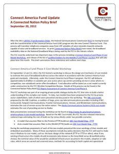 thumbnail of Connect America Fund Update: A Connected Nation Policy Brief