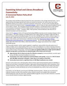 thumbnail of Examining School and Library Broadband Connectivity: A Connected Nation Policy Brief