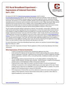 thumbnail of FCC Rural Broadband Experiment: Expressions of Interest from Ohio