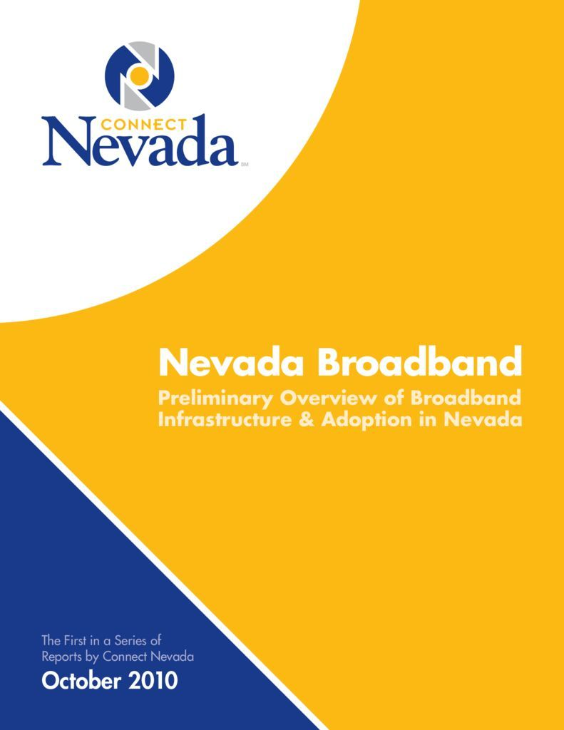 thumbnail of Nevada Broadband Preliminary Overview of Broadband Infrastructure & Adoption in Nevada