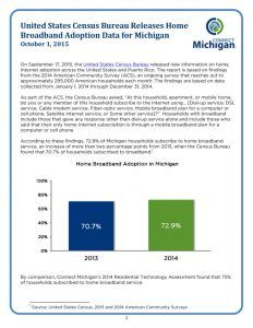 thumbnail of United States Census Bureau Releases Home Broadband Adoption Data for Michigan