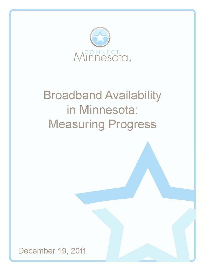 thumbnail of Broadband Availability in Minnesota: Measuring Progress