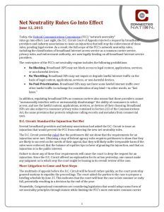 thumbnail of Net Neutrality Rules Go Into Effect: A Connected Nation Policy Brief