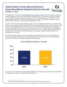 thumbnail of United States Census Bureau Releases Home Broadband Adoption Data for Nevada