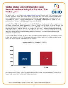 thumbnail of United States Census Bureau Releases Home Broadband Adoption Data for Ohio
