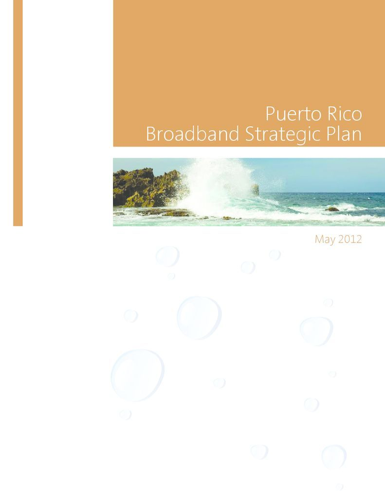 thumbnail of Puerto Rico Broadband Strategic Plan