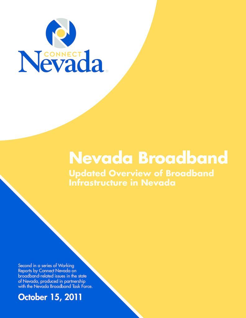 thumbnail of Nevada Broadband Updated Overview of Broadband Infrastructure in Nevada
