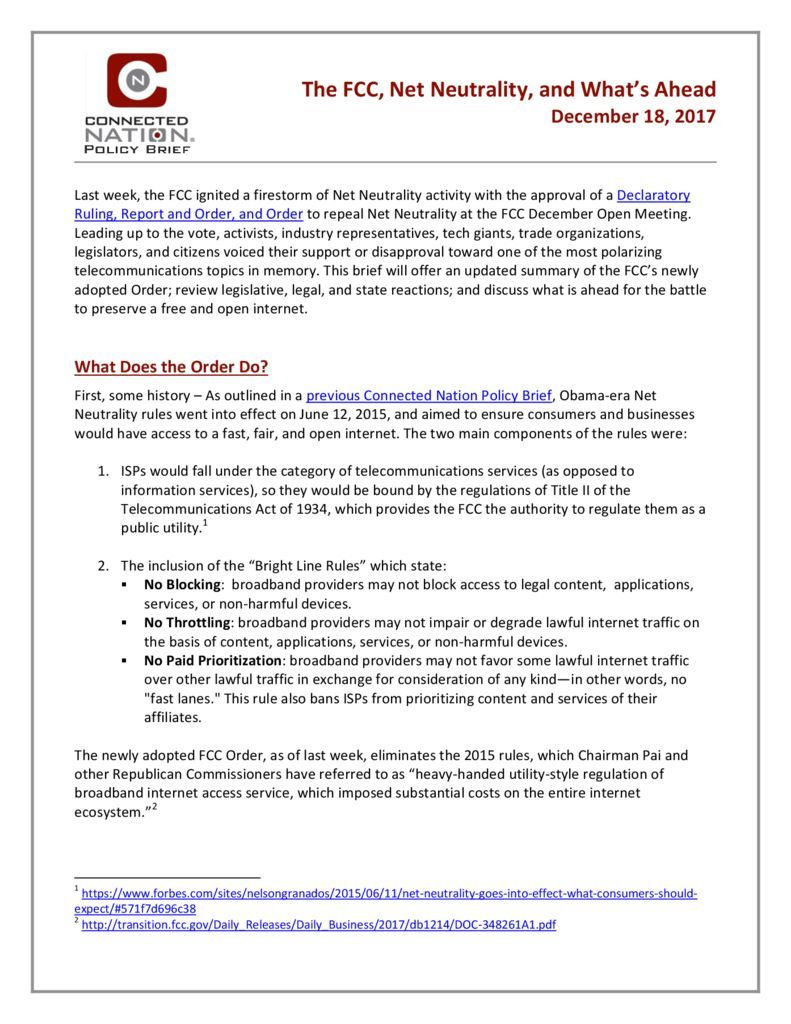 thumbnail of CN Policy Brief-Net Neutrality_Final2