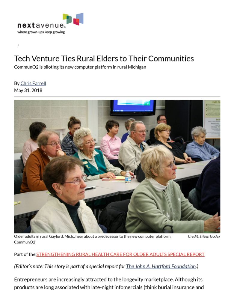 thumbnail of CommunO2 Provides Connection for Small-Town Older Adults